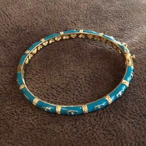 Lauren G Adams Gold Turquoise Butterfly Bangle
